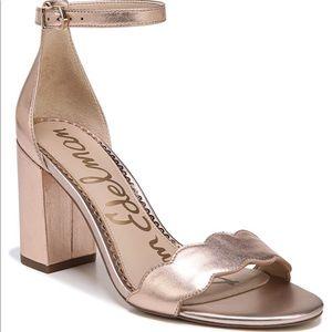 Sam Edelman Odila heeled sandal in rose gold